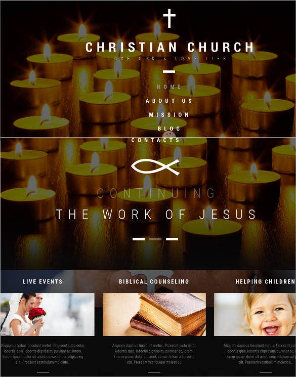 christian church wordpress theme