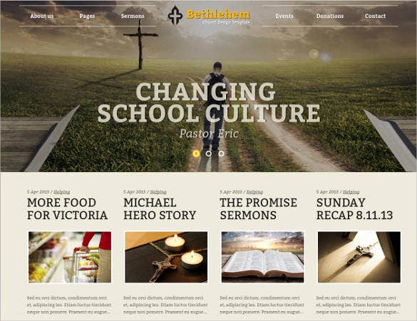 church bootstrap html5 template