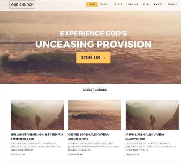 church responsive multipurpose wordpress theme