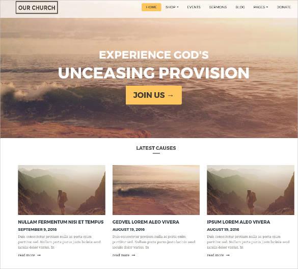 27 free church website themes templates free premium templates