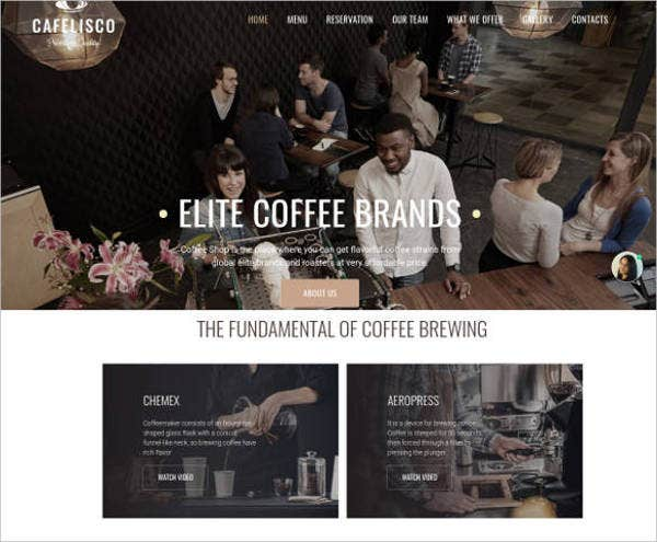 coffee-responsive-website-template