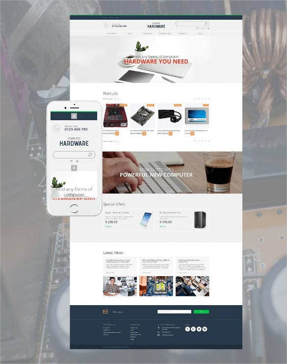 computer hardware ecommerce website