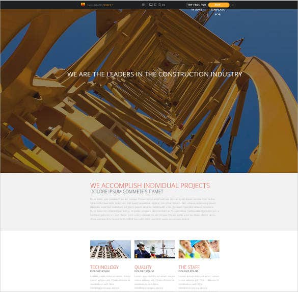 construction architect website template