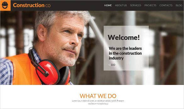 construction wordpress website template