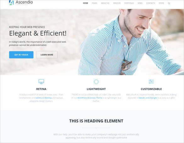 corporate business timeline wordpress theme