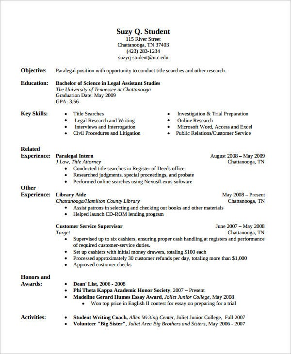 Customer Service Chronological Resume  Chronological Resume