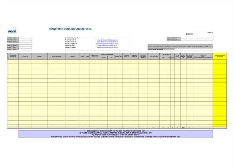 delivery booking order template in excel format1 24 788x557