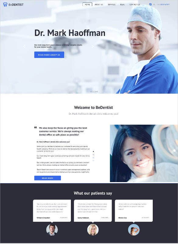 dental emergency website design template