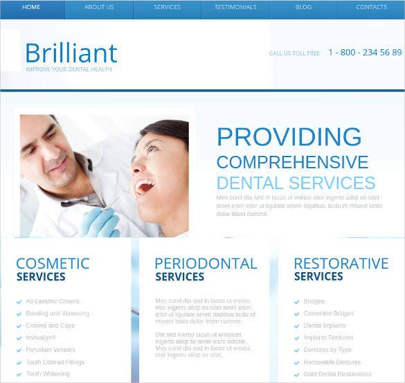 dental health care website template