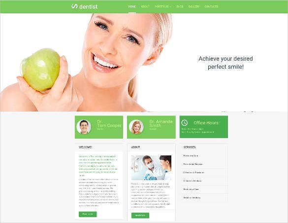 dental responsive design website