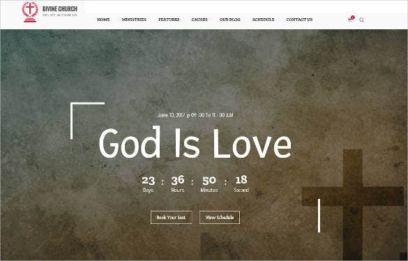 divine church html website template