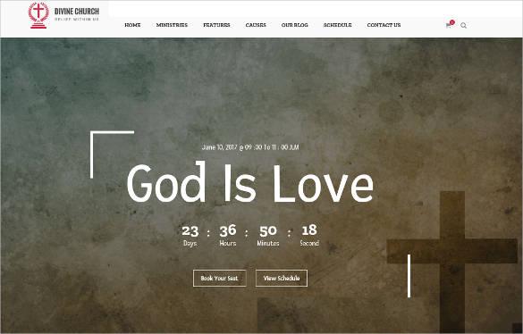 divine church html website template