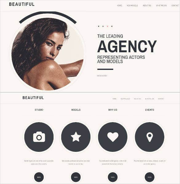 fashion industry one page website design
