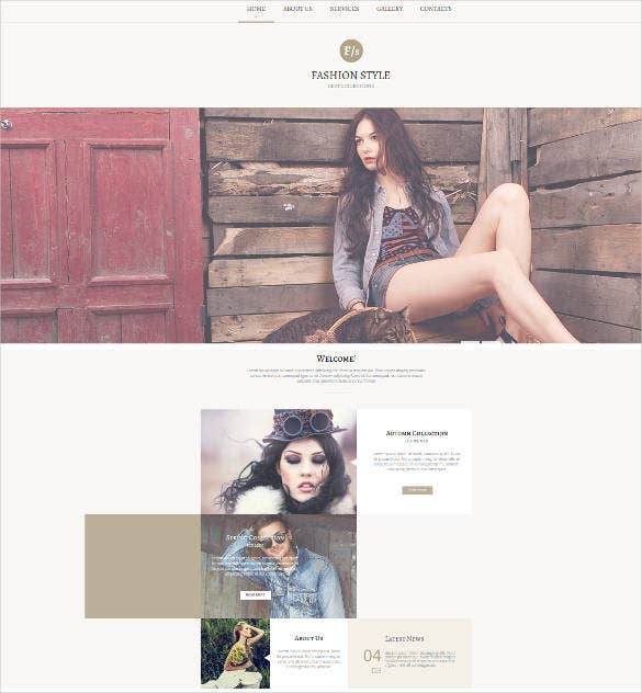 fashion photography web template design