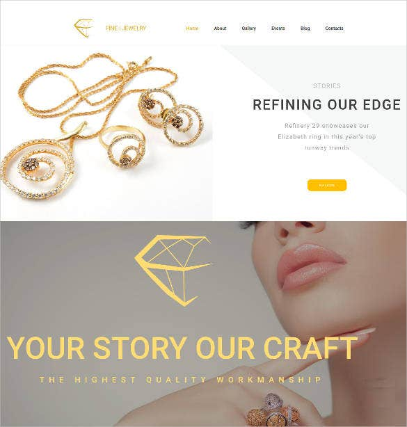 fine jewelry responsive website theme