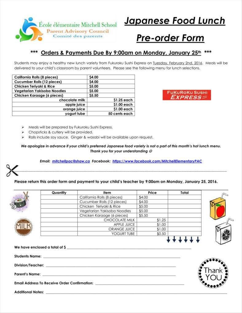food lunch order form pdf 11 788x1019
