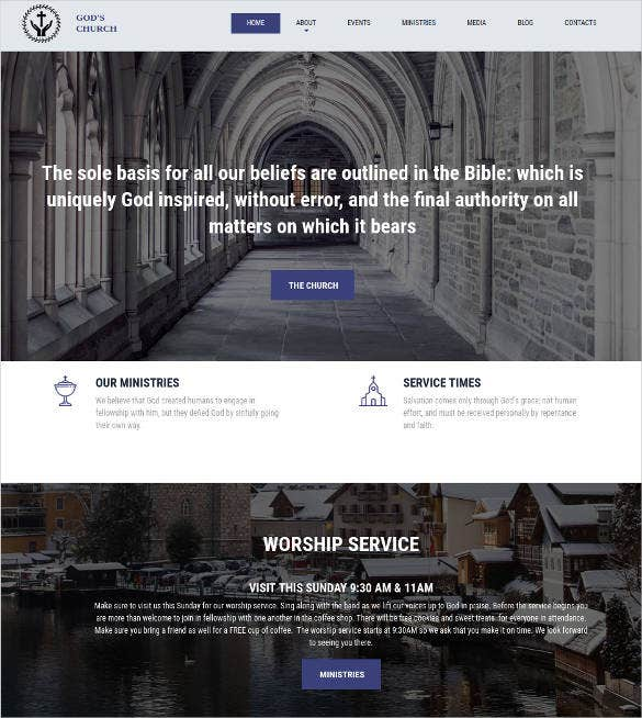 gods church responsive website template