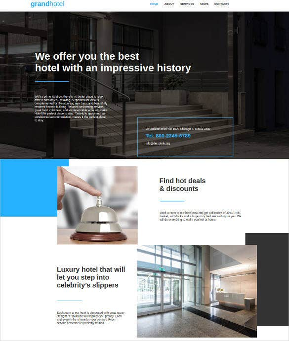 grand hotel html website template