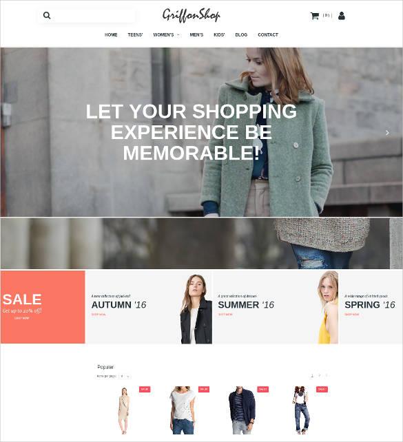 grillon shop ecommerce website theme