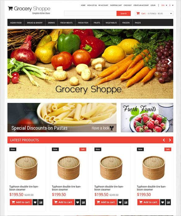 grocery e commerce bootstrap website template