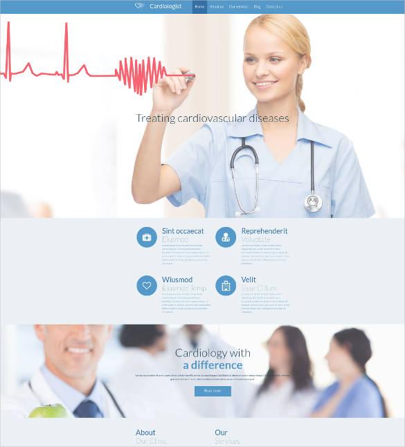 heart doctor website design
