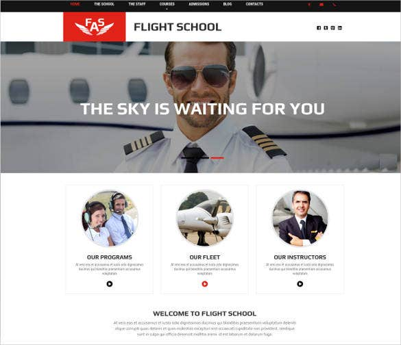 helicopter flight school website design