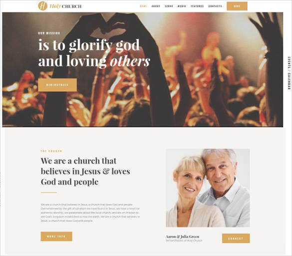 holy church religion nonprofit theme