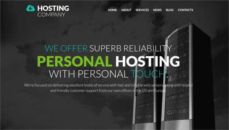 hosting company website design 788x449
