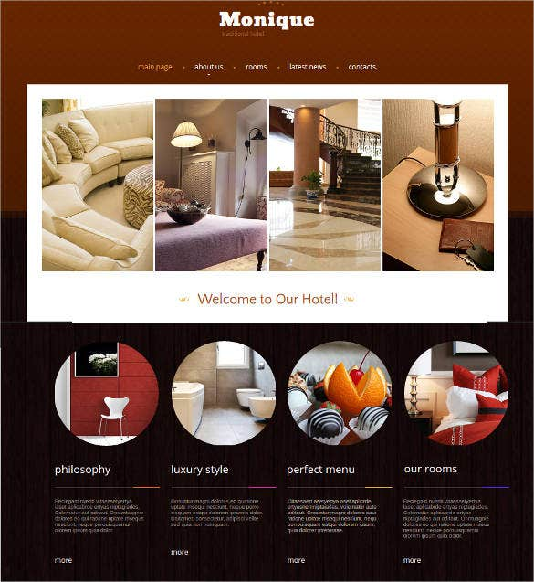 hotel web template design