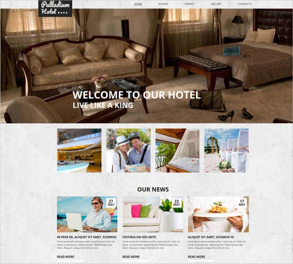 hotel website theme template