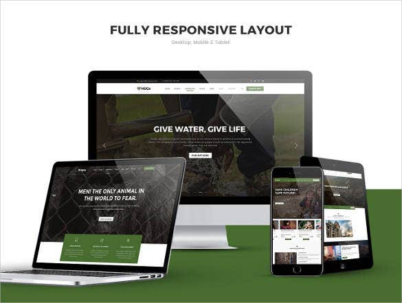 hugs charity nonprofit website template