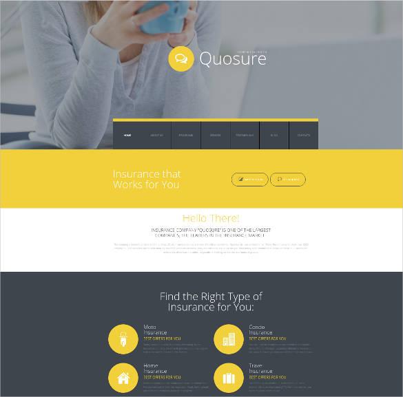 insurance agent responsive website design