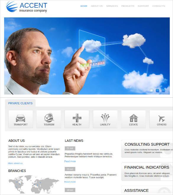 insurance business website template