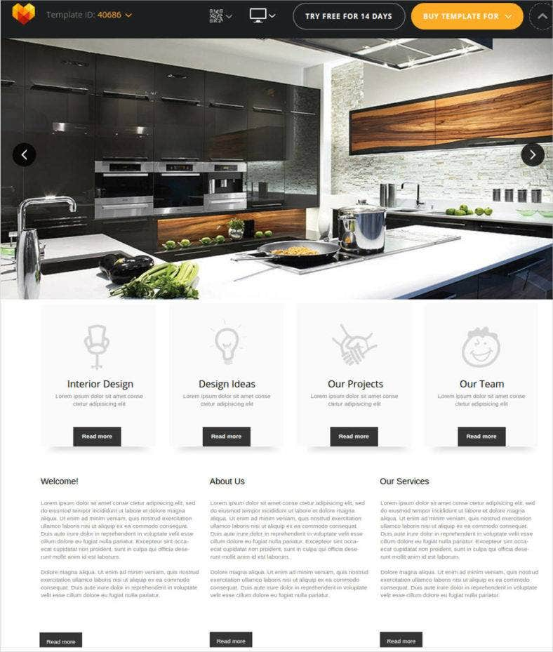 40 interior design website templates free premium for Interior design sites