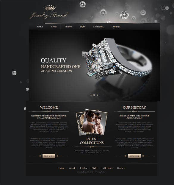 35 jewelry website themes templates free premium templates