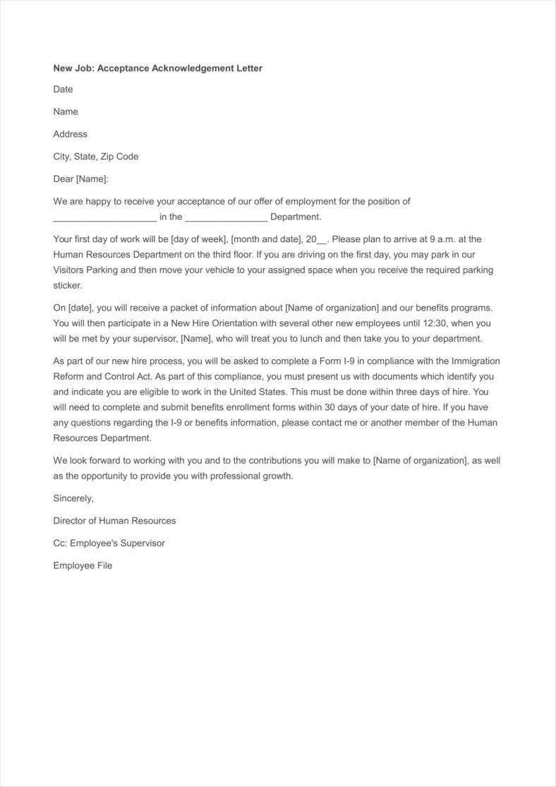 Types Of Acknowledgement Letter Pdf  Free  Premium Templates