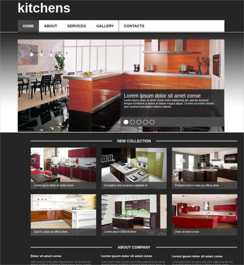Kitchen Website Design Pleasing 40 Interior Design Website Templates  Free & Premium Templates Design Ideas