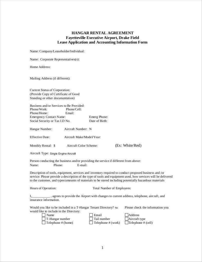 lease application and accounting information form 788x1019
