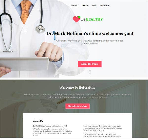 medical website design for private clinic
