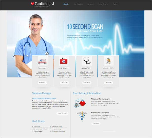 medical website template for cardiologists