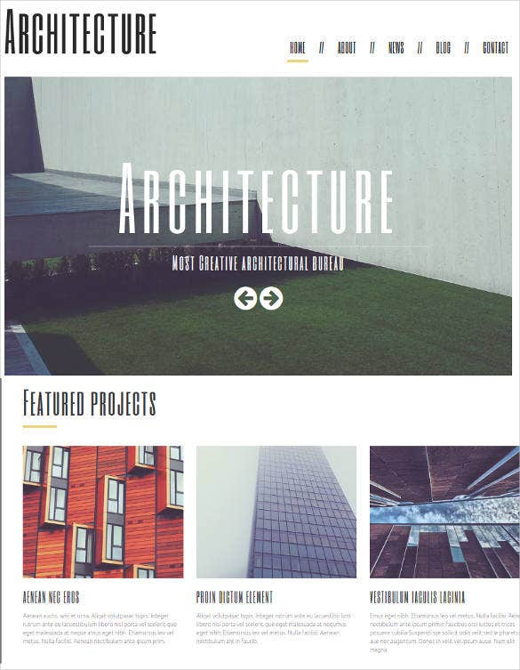 minimalism in architecture joomla template
