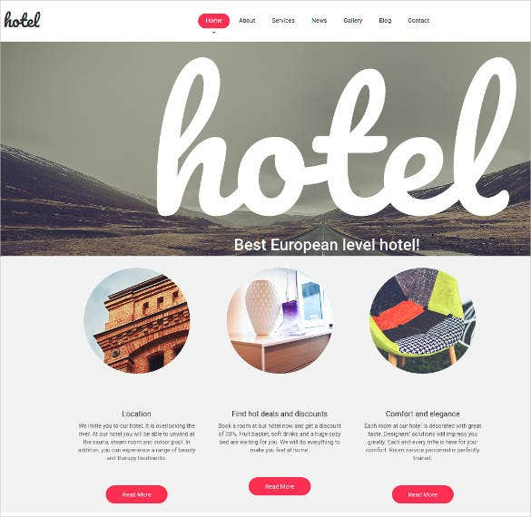 minimalist design for hotel website1