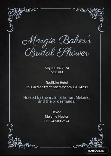 modern chalkboard bridal shower invitation template1