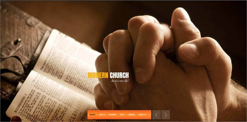 modern church spiritual website design 788x391