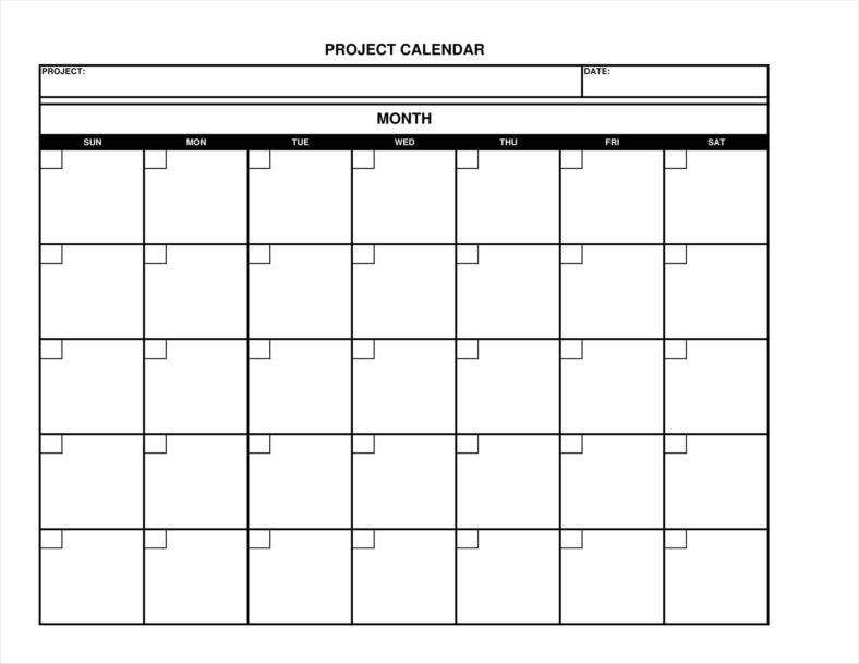 monthly project calendar template 11 788x609