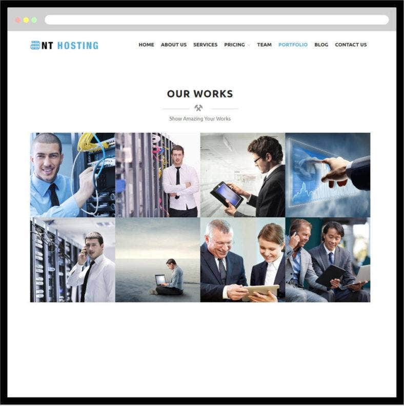 nt web hosting website template 788x792