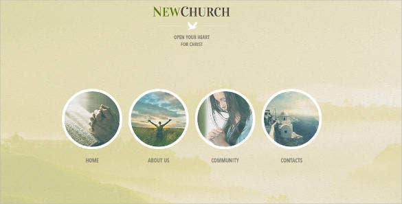 new church website theme template