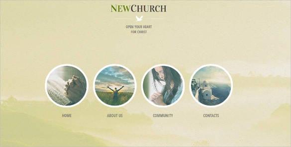 new church website theme template
