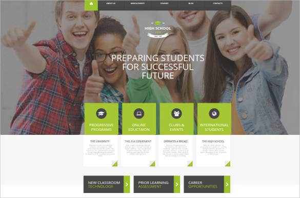 new high school html website theme1