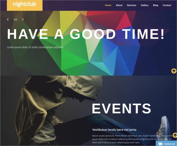 night club 3d wordpress website theme